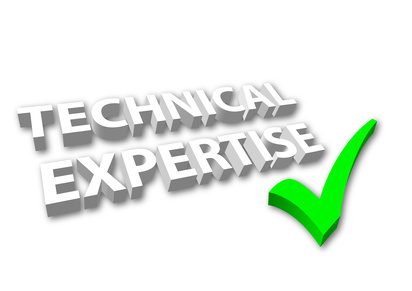 """Technical Expertise"" with Green Tick"