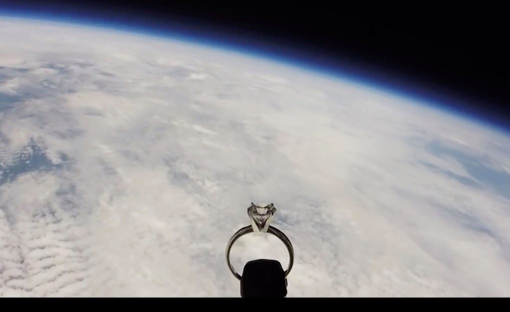 Air Force pilot made a space marriage proposal