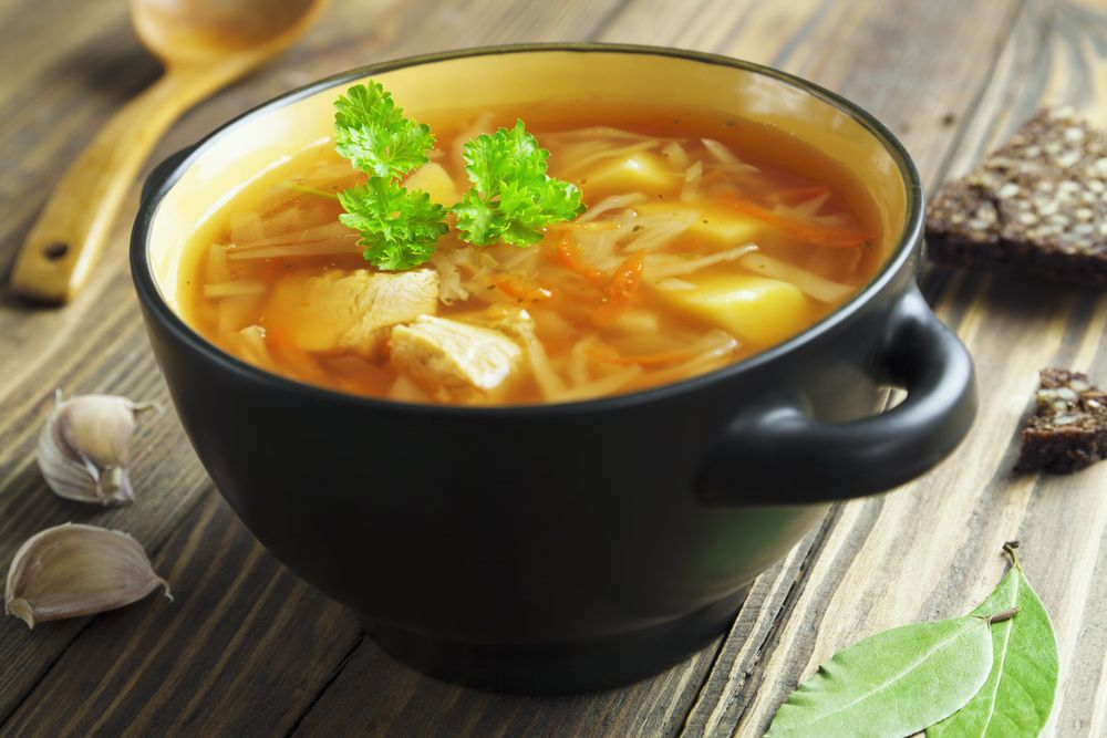 Does chicken soup work as a medicine to improve defenses?