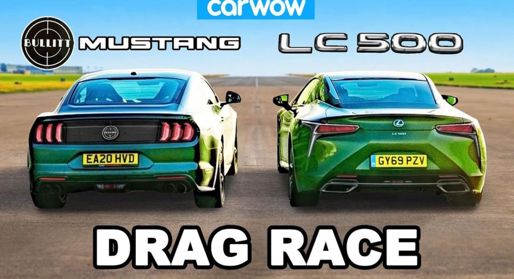 [Vídeo] Lexus LC 500 vs. Ford Mustang Bullitt: Can Japanese Engineering With American Fury?