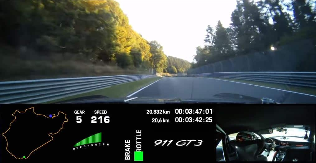 This is how the 2021 Porsche 911 GT3 conquers the Nürburgring