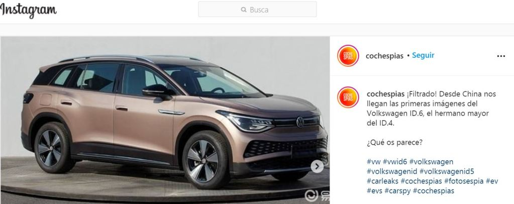 This is the Volkswagen ID 6: at the moment for China