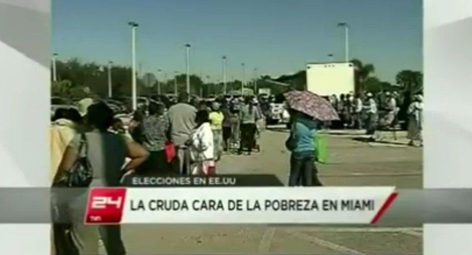 Video: Pobreza y colas por comida de caridad en Miami (la cara ...
