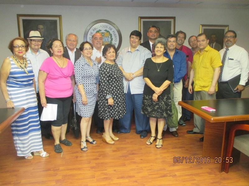 Reunion Delegados ONU, Colegio de Abogados