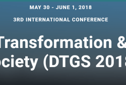 3rd International Conference Digital Transformation & Global Society (DTGS 2018)