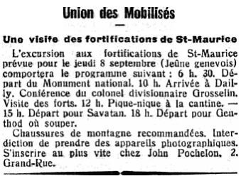 17 Visite des fortifications de St-Maurice (1938)