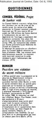 30.3 Bunker + violation du secret 1992