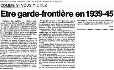 31 1ère ouverture au public d'un fort en Suisse (1988)