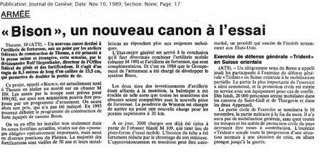 32 Bison, un nouveau canon à l'essai (1989)