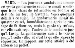 7 3 chars de sel pour le fort de Savatan confisqués (1896)