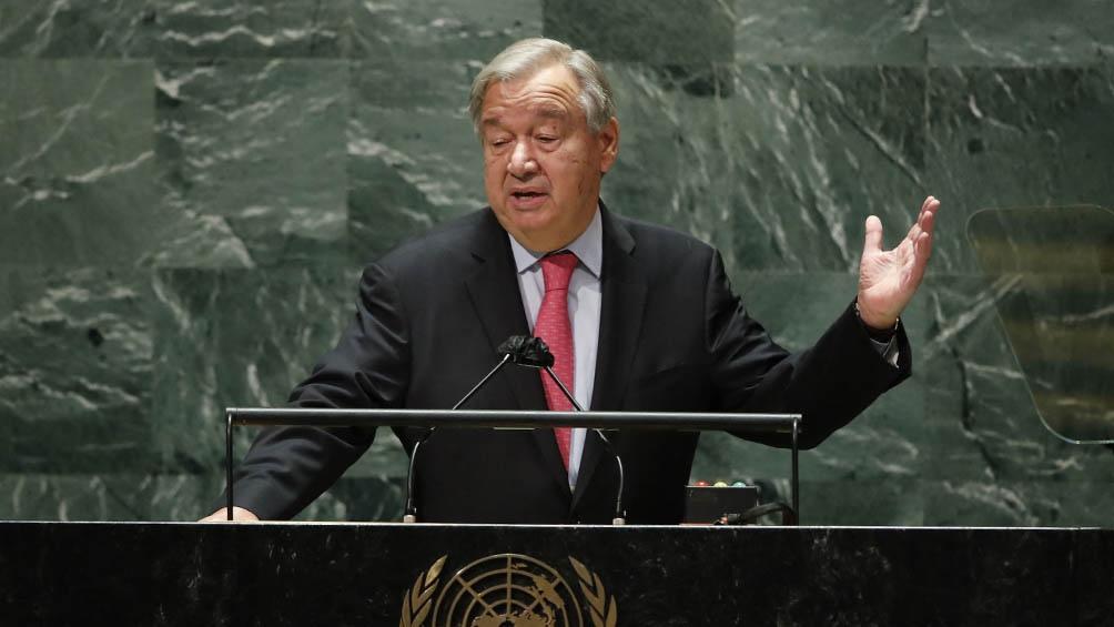 Guterres dijo que la Asamblea que iba a tener la vista puesta en Afganistán, la desigual distribución de vacunas, el cambio climático y la crisis económica.