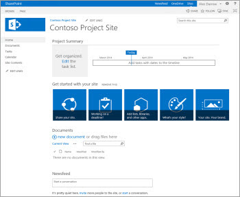 Site de projetos no Sharepoint