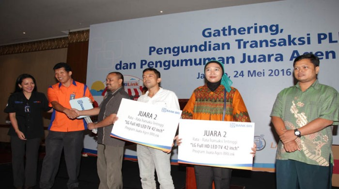 Pemenang Program Agen BRILink Regional Jakarta
