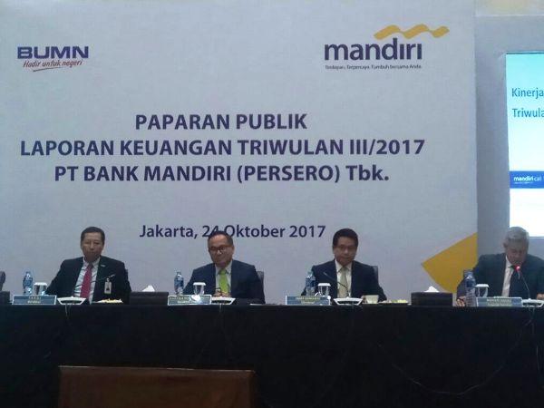 Laba Bank Mandiri Rp15,07 Triliun di Kuartal III-2017