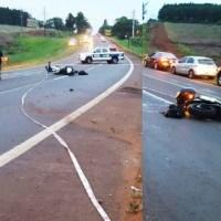 Motociclista murió en la ruta tras desprenderse la rueda delantera