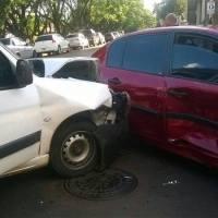 Choque en Sarmiento y Salta dejó tres heridos
