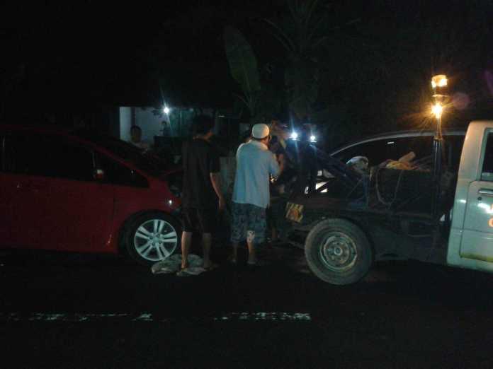 Kecelakaan Honda Jazz dan Honda Mobilio di Blitar