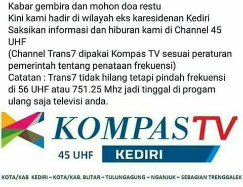 Kompas TV gantikan TransTV di Blitar