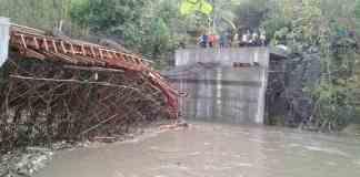 Proses Pembangunan Jembatan Kali Klatak yang ambrol