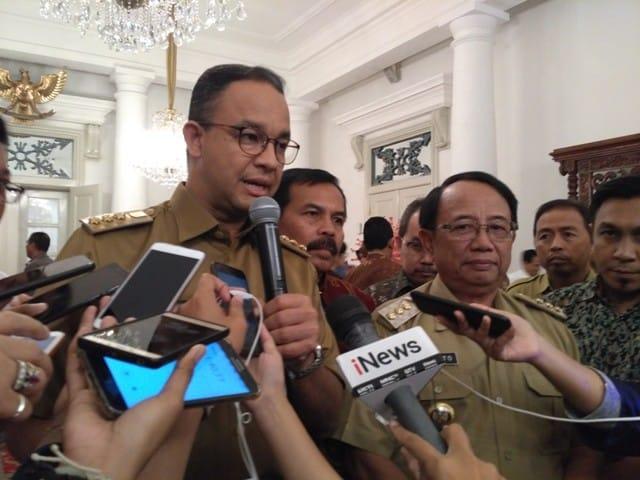 Gubernur DKI Jakarta bersama Bupati Blitar. foto metrotvnews