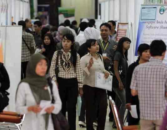 Ilustrasi job fair. Foto oleh Solopos com