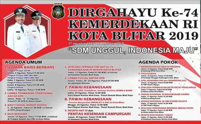 Agenda HUT RI Kota Blitar