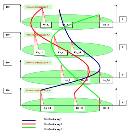 Rys.25 Porównanie kompetencji trzech ścieżek