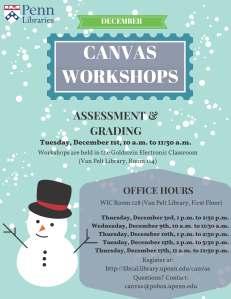 December 2015 Canvas Workshops and Office Hours Flyer