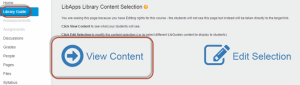 """""""View Content"""" button circled in red for emphasis."""