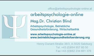 Arbeitspsychologie, Psychologische Beratung Salzburg