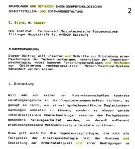 Ingenieurpsychologie Österreich