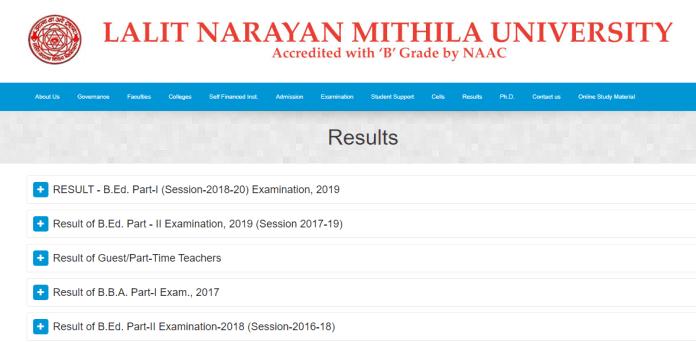 LNMU Darbhanga B.A/B.Sc/B.Com/LLB/B.Ed Part 1,2,3 Results 2019-20