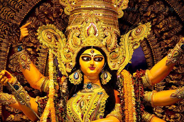 Durga Puja Wishes Quotes, Kolkata Puja Pandal Photo, HD Wallpaper, Durga Maa Image