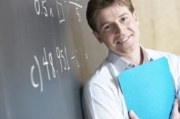 Math teacher smiling