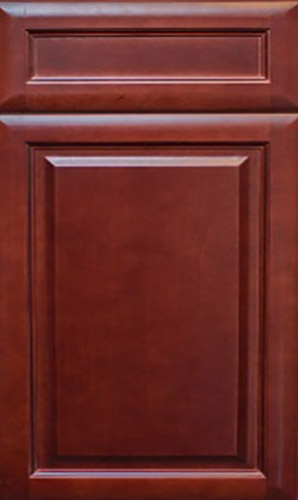 K Series Cherry Glaze Raised Panel Kitchen Cabinets