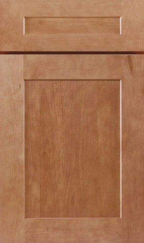 Almond Brown Shaker Kitchen Cabinet