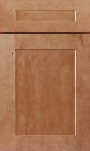 Almond Brown Shaker Kitchen Cabinet