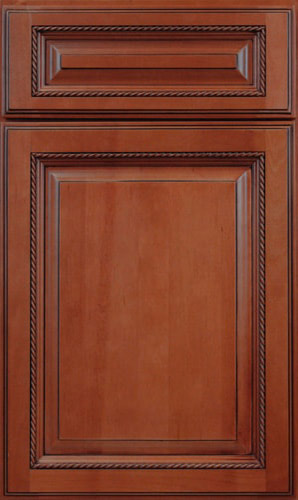 Sienna Rope Brown Raised Panel Kitchen Cabinet