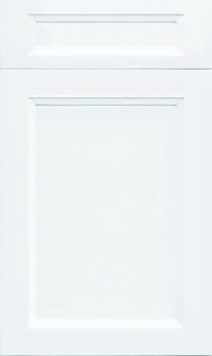 Bellrose Bright White Transitional Kitchen Cabinet