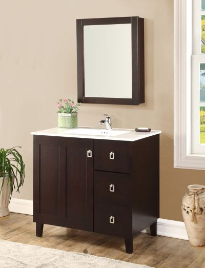 Elan 36′ Dark Walnut with Matching Medicine Cabinet