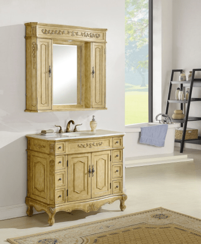 Kensington 42′ Tan with Matching Medicine Cabinet