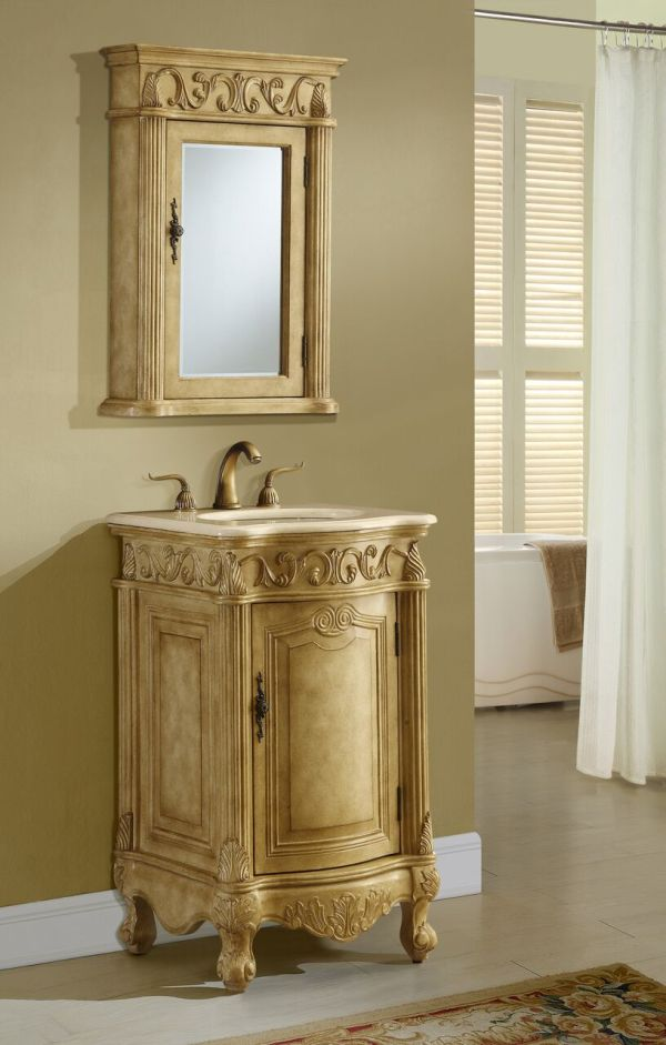 Tuscany 21′ Tan with Matching Medicine Cabinet