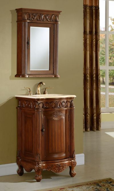 Tuscany 21′ Teak with Mirror Matching Medicine Cabinet