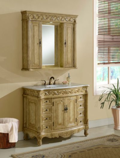 Tuscany 42′ Tan with Matching Medicine Cabinet