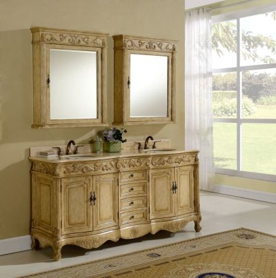 Tuscany 72′ Tan with Matching Medicine Cabinet