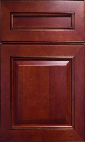 Prestige Cherry Raised Panel Kitchen Cabinet