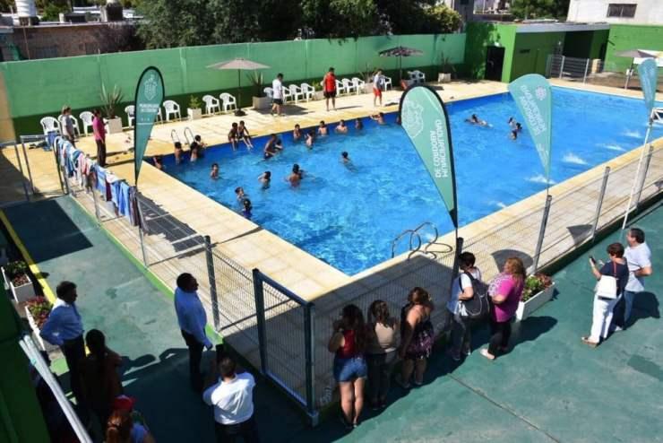 Nueva pileta del Polideportivo Corral de Palos