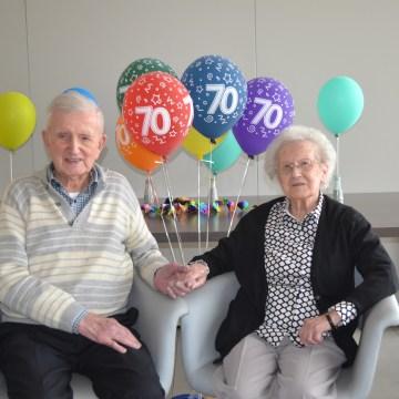 Bravo voor 70 jaar getrouwd zijn