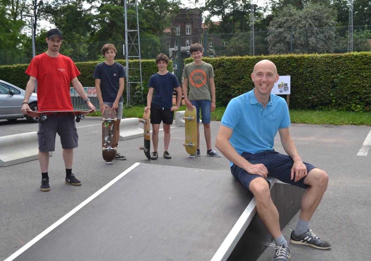 Deerlijk voorziet pop-up skatepark op Gaverdomein