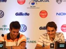 Conferencia de Prensa Del Potro VS Federer